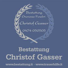 Bestattung Christof Gasser …damit Sie Zeit für sich selber haben